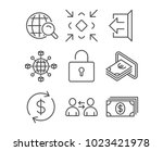 set of communication  minimize... | Shutterstock .eps vector #1023421978