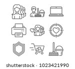 set of woman love  notebook and ... | Shutterstock .eps vector #1023421990