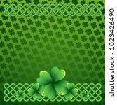 rich green saint patrick's day...   Shutterstock .eps vector #1023426490