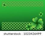 rich green saint patrick's day...   Shutterstock .eps vector #1023426499