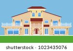 image of tree storey villa.... | Shutterstock .eps vector #1023435076