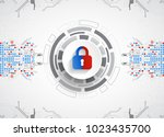 protection concept. protect... | Shutterstock .eps vector #1023435700