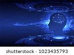 artificial intelligence ... | Shutterstock .eps vector #1023435793