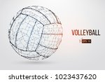 silhouette of a volleyball ball.... | Shutterstock .eps vector #1023437620