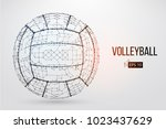 silhouette of a volleyball ball.... | Shutterstock .eps vector #1023437629
