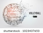silhouette of a volleyball ball.... | Shutterstock .eps vector #1023437653