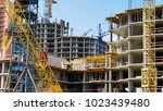 construction site. high rise...   Shutterstock . vector #1023439480