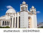 san salvador cathedral. san...   Shutterstock . vector #1023439663