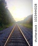 railroad in tennessee backwoods   Shutterstock . vector #1023444328