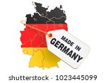made in germany concept  3d... | Shutterstock . vector #1023445099