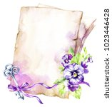 watercolor illustration. a pile ... | Shutterstock . vector #1023446428