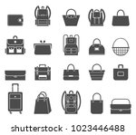 shopping icons set. bag icons.... | Shutterstock .eps vector #1023446488