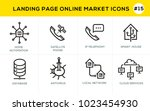 flat line design concept icons... | Shutterstock .eps vector #1023454930