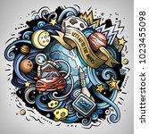 cartoon vector doodles joky...   Shutterstock .eps vector #1023455098