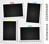 retro photo frame with shadows. ... | Shutterstock .eps vector #1023456469