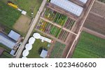aerial agricultural view of... | Shutterstock . vector #1023460600