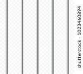 realistic prison metal bars on... | Shutterstock .eps vector #1023460894