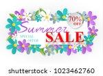 design of the summer banner... | Shutterstock .eps vector #1023462760