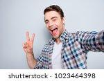 self portrait of bearded  cool  ...   Shutterstock . vector #1023464398