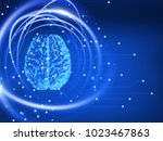human brain. abstract... | Shutterstock .eps vector #1023467863