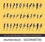 lightning  electric power...   Shutterstock .eps vector #1023468730
