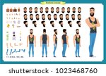 hipster creation kit. set of... | Shutterstock .eps vector #1023468760