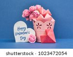 Pink Roses And Paper Hearts On...