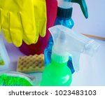 detergent dispenser spray on... | Shutterstock . vector #1023483103