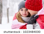close up of couple in love in... | Shutterstock . vector #1023484030