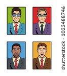 businessman pop art icons | Shutterstock .eps vector #1023488746