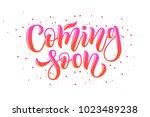 gradient pink hand drawn ... | Shutterstock .eps vector #1023489238