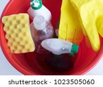 products for cleaning  ... | Shutterstock . vector #1023505060