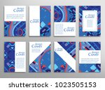 set of a4 cover  abstract... | Shutterstock .eps vector #1023505153