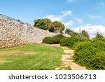 the haas promenade in jerusalem ... | Shutterstock . vector #1023506713