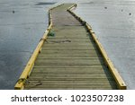 A Long Wooden Floating Dock...