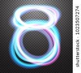 shining neon light effect... | Shutterstock .eps vector #1023507274