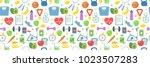 healthy lifestyle vector... | Shutterstock .eps vector #1023507283