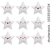 Cute Star  Smiley  Vector.