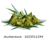 chinese rice dumplings  zongzi  ... | Shutterstock .eps vector #1023511294