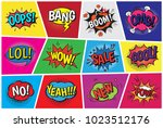 pop art comic vector speech... | Shutterstock .eps vector #1023512176