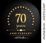 70 years anniversary... | Shutterstock .eps vector #1023512269