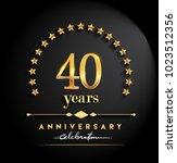 40 years anniversary... | Shutterstock .eps vector #1023512356