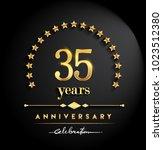 35 years anniversary...   Shutterstock .eps vector #1023512380