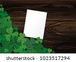 many breeds of clover on the...   Shutterstock .eps vector #1023517294