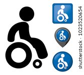 icon physically handicapped... | Shutterstock .eps vector #1023520654