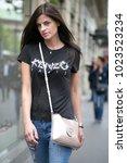 paris july 6  2016. street... | Shutterstock . vector #1023523234