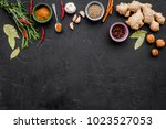 gastronomy  culinary. secrets... | Shutterstock . vector #1023527053