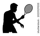 the vector of tennis player in...