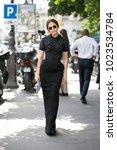 paris july 6  2016. street... | Shutterstock . vector #1023534784
