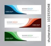 abstract modern banner...   Shutterstock .eps vector #1023535048